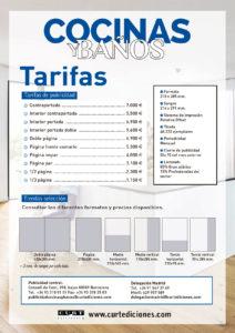 TARIFAS REVISTA COCINAS Y BAÑOS DE CURT EDICIONES